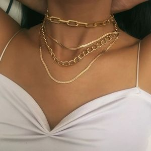 Jewelry - Gothic Punk Cuban Choker Necklace Collar Statement